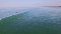 Surfgirl Bali Indonesia Slowmotion Aerial Stock Footage