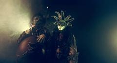 Venetian masquerade. Actors in Venetian costume. Stock Footage
