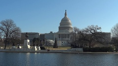US Capitol Building on Christmas Day Stock Footage