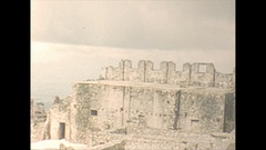 Vintage 16mm film, 1956, Haiti Citadelle Lafrerriere, view from top, sequence #2 Stock Footage