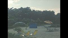 Vintage 16mm film, 1956, Haiti Port au Prince resort b-roll Stock Footage