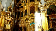 Interior of Assumption Cathedral, Smolensk, Russia Stock Footage