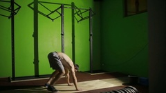 Athletic Male Working Out. High-intensity interval training. CrossFit, Burpee Stock Footage