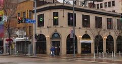 Typical Establishing Shot of Corner Bar or Restaurant in Pittsburgh Stock Footage