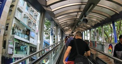 Soho Mid-levels Escalator Stock Footage