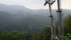 Cable cars going up en down Stock Footage