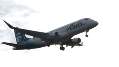 Commercial Airplane Passing By For Landing Stock Footage