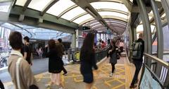 Mid-Levels Escalator Hong Kong Stock Footage