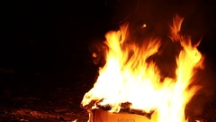 Spurts of flame Stock Footage