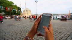 Mobil Phone Istanbul Stock Footage