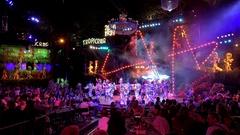 General view of the Tropicana Club show. Havana, Cuba Stock Footage