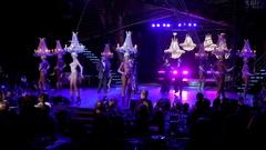 Chandelier dancer in the Tropicana Club. Havana, Cuba Stock Footage