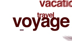 Voyage animated word cloud. Stock Footage