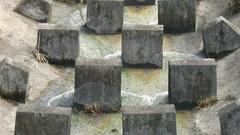 Hong Kong mountain streams erosion management Stock Footage