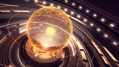 A stylized rendering of the earth conveying the modern digital age 4k motion Stock Footage