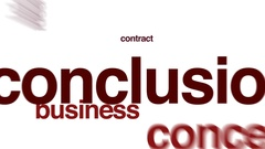 Conclusion animated word cloud. Stock Footage