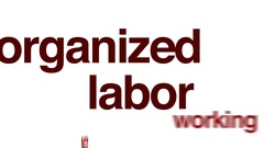 Organized labor animated word cloud. Stock Footage