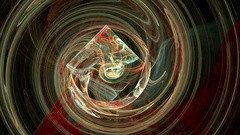 Colorful spiral pattern abstract motion background Stock Footage