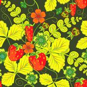 Repeating Seamless pattern with strawberry. Abstract Elegance seamless nature Stock Illustration