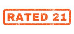 Rated 21 Rubber Stamp Stock Illustration