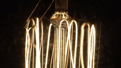 Close-up turn off light bulb. Stock Footage