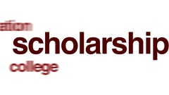 Scholarship word cloud Stock Footage