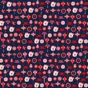 Vector Chinese decorative pattern of asian symbols-illustrator. Stock Illustration