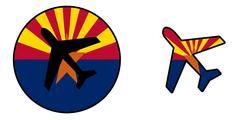Nation flag - Airplane isolated - Arizona Stock Illustration