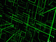 Animated Abstract Green Grid Stock Footage