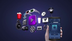 Touching Movie, video, vod entertainment application, management using mobile Stock Footage