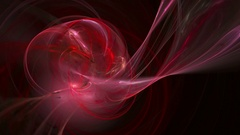 Red twirl pattern abstract motion background Stock Footage