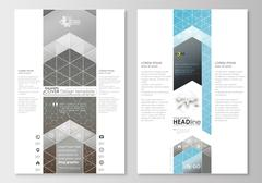 Blog graphic business templates. Page website template, easy editable, flat Stock Illustration