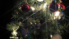 Christmas Tree Rotate Star Filter Stock Footage