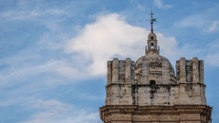 Malaga cathedral unfinished tower Stock Footage