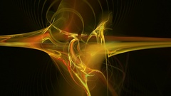 Yellow flow pattern abstract motion background Stock Footage