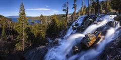 Eagle Falls and Emerald Bay Lake Tahoe, California Stock Photos