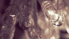 Twinkling garland lights. Close up macro Stock Footage