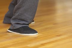 Tai Chi footwork and kung fu shoes, shallow depth of field, focus on shoe. Kuvituskuvat