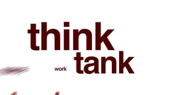 Think tank animated word cloud. Stock Footage