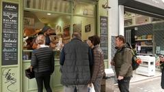 4K Fast food Restaurant wrap bread Wraps Rolls in Plaka Athens Greece Europe Stock Footage