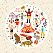 Circus collection. Stock Illustration