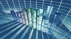Business bar chart for economic concept Stock Illustration