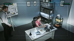 CCTV camera is recording the work of detectives and police station Arkistovideo