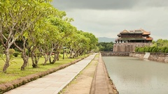 Imperial Royal Palace of Nguyen dynasty in Hue, Vietnam Stock Footage
