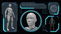 3D rendering of an artifiacial robot woman Stock Illustration