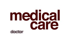 Medical care animated word cloud. Stock Footage