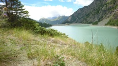 Alpe Gera dam in northern Italy Stock Footage