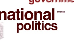 National politics animated word cloud. Stock Footage