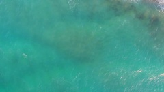 Aerial video, seashore, waves on the beach. About coast, sea, marine, water Stock Footage