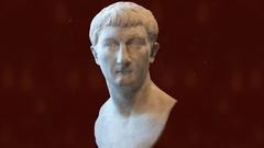 Julius Caesar Head Sculpture Stock Footage